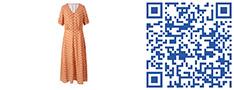 花橙色连衣裙