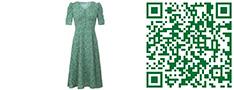 花绿色连衣裙