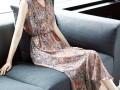 V领显瘦吊带裙中长款碎花裙子 (1)