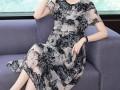高贵遮肚显瘦减龄微胖女人裙子 (1)