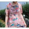 娜美服饰苎麻数码印花盘扣T恤