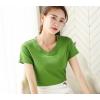 新款韩版纯色亲肤修身简约T恤