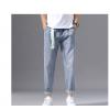 香港高端潮牌牛仔裤男士2020夏季薄款直筒宽松夏天百搭休闲长裤子