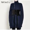 【秒杀】MOCO套头高领加长袖茧型针织连衣裙毛衫裙MA174DRS301
