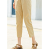 茵曼九分裤休闲裤女显瘦百搭2020夏装新款系带纯棉小个子直筒裤子