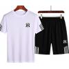 运动套装男夏季舒适短袖T恤跑步休闲短裤大码两件套潮